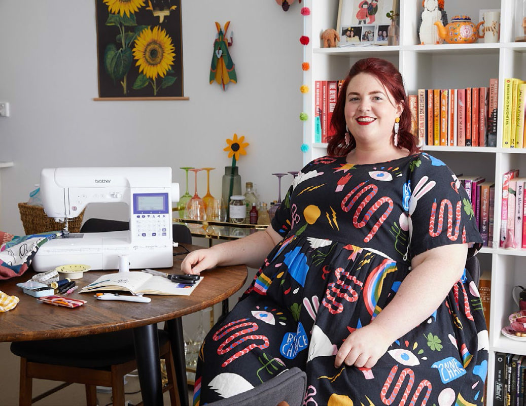 Alusha Newnham-Kell, sewing her own clothes